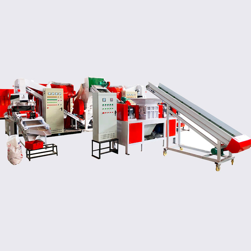 Line Type Automatic Scrap Wire Crusher Granulator Machine